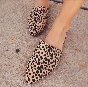 Shoes - 🆕️//The Marcy// leopard print mule flat